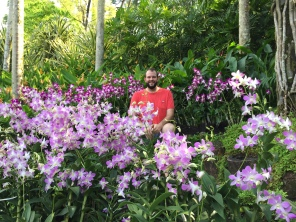 Matthew at the Nation Orchid Garden in Singapore