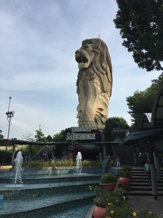 Merlion - the mythical symbol of Singapore - on Sentora Island