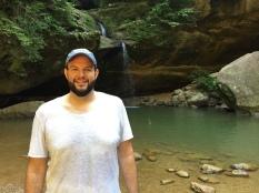 Matthew near Old Man's Cave in Hocking Hills (Ohio, USA)