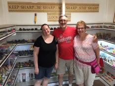 Allen, Sherrill and Sarah at the Pencil Sharpener Museum at Logan, Ohio