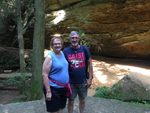 My parents at Ash Cave, Hocking Hills (Ohio, USA)