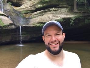 Matthew at Cedar Falls in Hocking Hills (Ohio, USA)